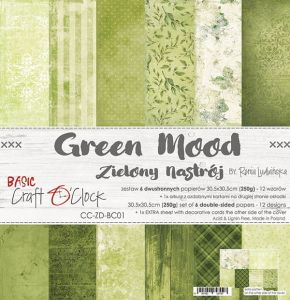 "papier scrapbook Craft o'clock - green mood [zestaw 12"" x 12""]"