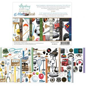 papier scrapbook Mintay Papers - men's book (elementy do wycinania) [bloczek/pad]