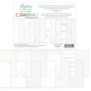 papier scrapbook Mintay Papers - basic book 1 - white [bloczek/pad]