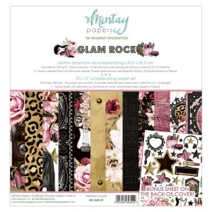 "papier scrapbook Mintay Papers - glam rock [zestaw] 12""x12"""
