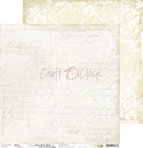 papier scrapbook Craft o'clock - white - beige mood 04