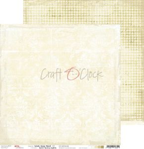 papier scrapbook Craft o'clock - white - beige mood 03