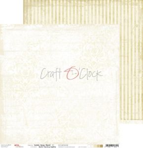 papier scrapbook Craft o'clock - white - beige mood 02