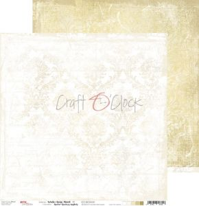 papier scrapbook Craft o'clock - white - beige mood 01