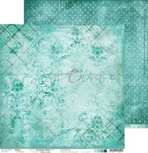 papier scrapbook Craft o'clock - turquoise mood 06