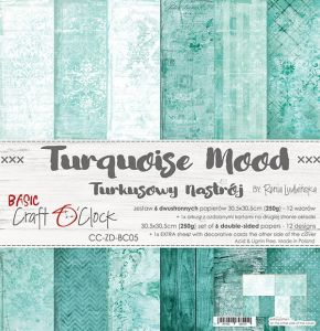 "papier scrapbook Craft o'clock - turquoise mood [zestaw 12"" x 12""]"