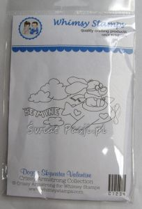 stempel gumowy Crissy Armstrong Collection - doggie skywriter valentine
