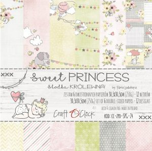 "papier scrapbook Craft o'clock - sweet princess [zestaw 12"" x 12""]"