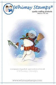 stempel gumowy Lee Holland Collection - snowman and robin