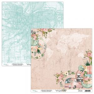 papier scrapbook Mintay Papers - wanderlust 01