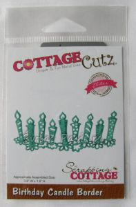 wykrojnik Cottage Cutz - birthday candle border [CCE-155]
