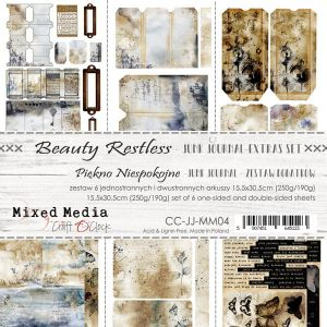 "papier scrapbook Craft o'clock - beauty restless - junk journal [zestaw dodatków 6"" x 12""]"