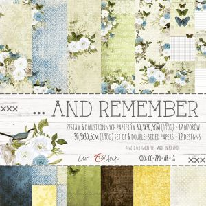 "papier scrapbook Craft o'clock - ... and remember [zestaw 12"" x 12""]"