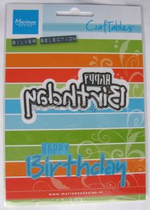 wykrojnik Marianne Design - napis happy birthday [CR1320]
