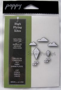 wykrojnik Poppy Stamps - high flying kites [1169]