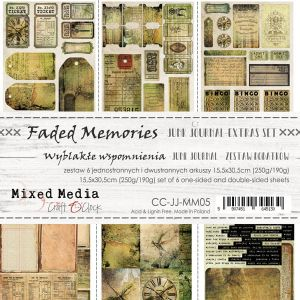 "papier scrapbook Craft o'clock - faded memories - junk journal [zestaw dodatków 6"" x 12""]"