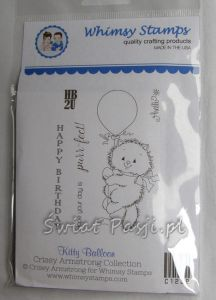 stempel gumowy Crissy Armstrong Collection - kitty balloon