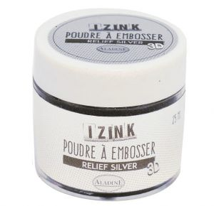 puder do embossingu IzInk - srebrny