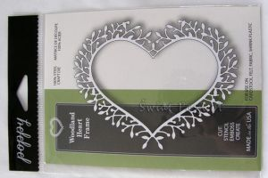 wykrojnik Poppy Stamps - woodland heart frame [1122]