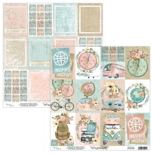 papier scrapbook Mintay Papers - wanderlust 06