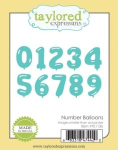 wykrojnik Taylored expressions - number balloons
