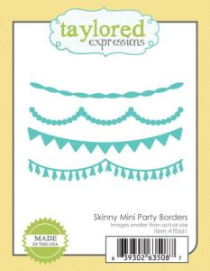 wykrojnik Taylored expressions - skinny mini party borders [TE661]