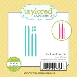wykrojnik Taylored expressions - colored pencils