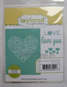 wykrojnik Taylored expressions - hearts a flutter cutting plate