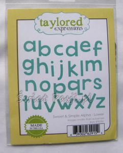 wykrojnik Taylored expressions - sweet & simple alpha (lower)