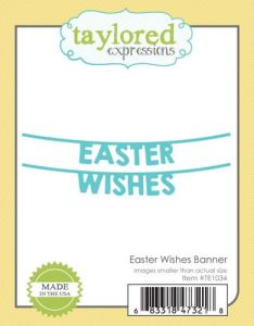 wykrojnik Taylored expressions - easter wishes banner [TE1034]