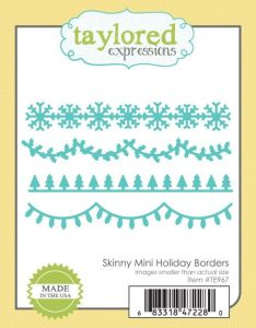 wykrojnik Taylored expressions - skinny mini holiday borders [TE967]
