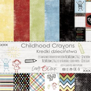"papier scrapbook Craft o'clock - childhood crayons [zestaw 12"" x 12""]"