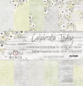 "papier scrapbook Craft o'clock - celebrate today [zestaw 12"" x 12""]"
