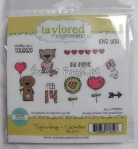 stemple gumowe Taylored expressions - tag-a-long - valentine