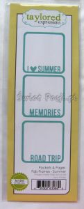 wykrojnik Taylored expressions - pockets & pages fab frames - summer