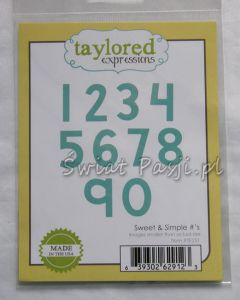 wykrojnik Taylored expressions - sweet & simple number's