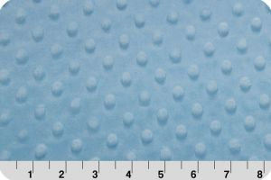 polar Minky cuddle dimple - niebieski (baby blue) 50x75