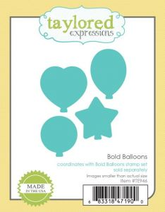 wykrojnik Taylored expressions - bold balloons