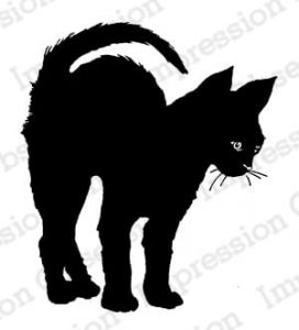 stempel gumowy Impression Obsession - black arched cat [D7898]