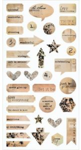 papier scrapbook 7 Dots Studio - thoughts keeper die cut elements