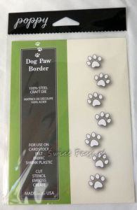 wykrojnik Poppy Stamps - dog paw border [1209]