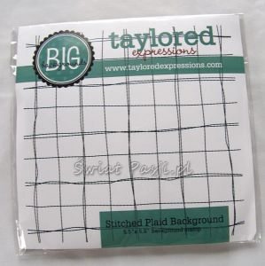 stempel gumowy Taylored expressions - stitched plaid background