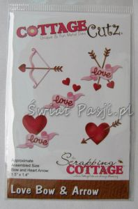 wykrojnik Cottage Cutz - love bow & arrow [cc-264]