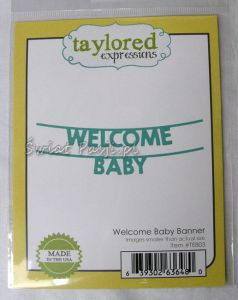 wykrojnik Taylored expressions - welcome baby banner