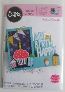 wykrojnik Sizzix - happy birthday step-ups [660142]