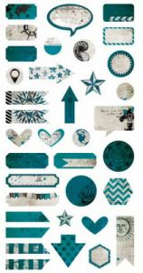 papier scrapbook 7 Dots Studio - destination unknown die cut elements