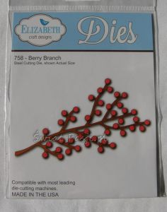 wykrojnik Elizabeth craft - berry branch [758]