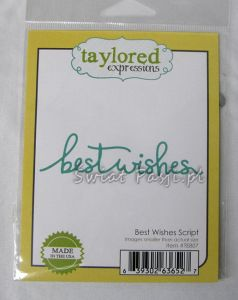 wykrojnik Taylored expressions - best wishes script