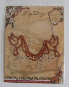 wykrojnik Amy design - doves w/ ribbon [ADD10010]