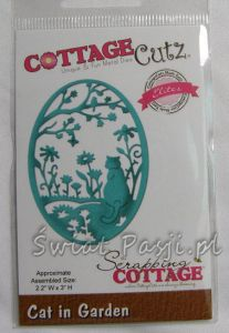 wykrojnik Cottage Cutz - cat in garden [cce-413]